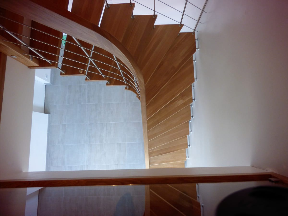 Escalier design for Construction bois yvetot