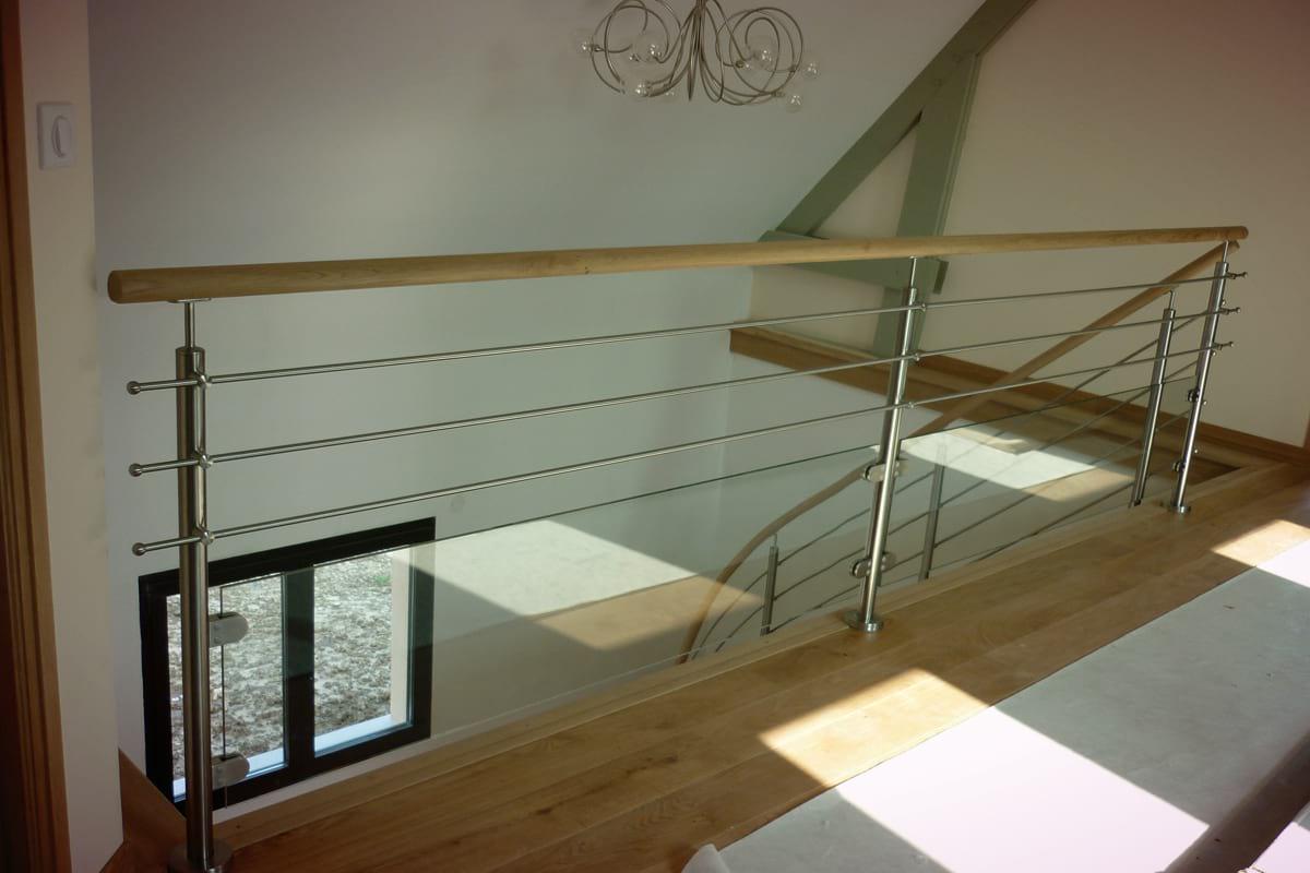 escalier quart tournant inox