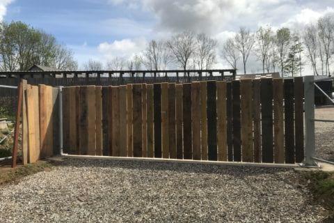 portail bois unique